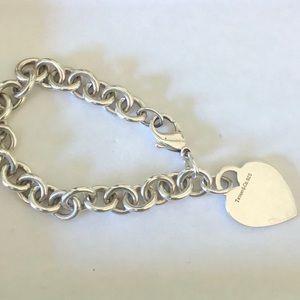 Tiffany Heart Charm Bracelet - Silver